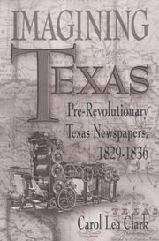 Cover of: Imagining Texas | Carol Lea Clark