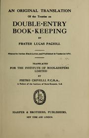 Cover of: An original translation of the treatise on double-entry book-keeping by Luca Paccioli