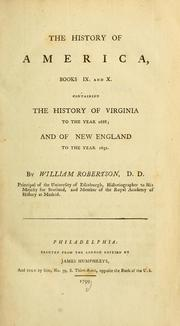 The history of America by William Robertson
