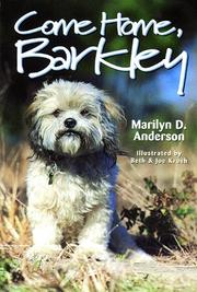 Cover of: Come home, Barkley | Marilyn D. Anderson