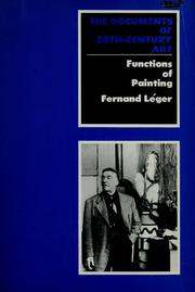 Cover of: Functions of painting | Fernand Léger