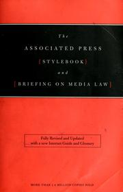 Cover of: The Associated Press stylebook and briefing on media law | Norm Goldstein