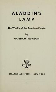 Cover of: Aladdin's lamp | Munson, Gorham Bert