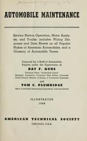 Cover of: Automobile maintenance | Ray F. Kuns