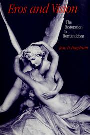 Cover of: Eros and vision | Jean H. Hagstrum