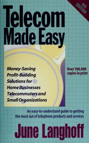 Cover of: Telecom made easy by June Langhoff