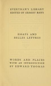 Cover of: Words and Places | Isaac Taylor