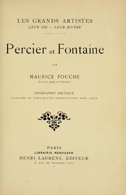 Cover of: Percier et Fontaine | Maurice Fouche