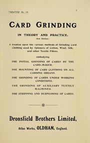 Cover of: Card grinding in theory and practice by Dronsfield Brothers Ltd