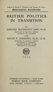 Cover of: British politics in transition | Edward McChesney Sait
