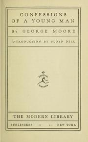 Cover of: Confessions of a young man by George Moore
