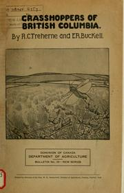 Cover of: Grasshoppers of British Columbia | R.C. Treherne