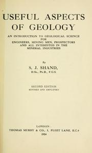 Cover of: Useful aspects of geology | S. James Shand