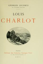 Cover of: Louis Charlot by George Charles Lecomte