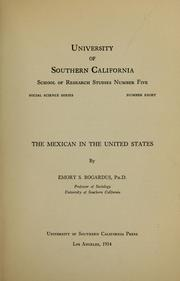 Cover of: The Mexican in the United States