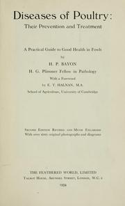 Cover of: Diseases of poultry | Henry Peter George Bayon