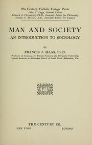 Cover of: Man and society by Francis J. Haas