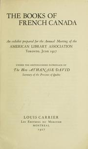 Cover of: The books of French Canada by Louis Carrier
