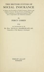 Cover of: The British system of social insurance | Percy Cohen