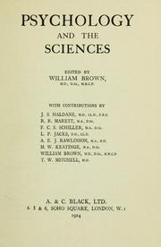 Cover of: Psychology and the sciences | Brown, William