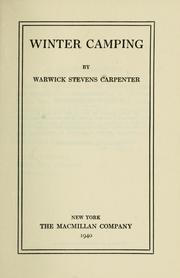 Cover of: Winter camping | Warwick Stevens Carpenter