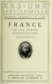 Cover of: France by Louis Hourticq