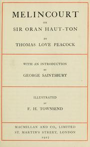 Cover of: Melincourt by Thomas Love Peacock