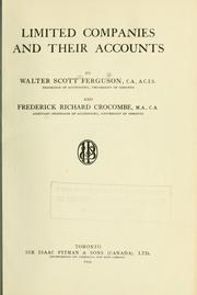 Cover of: Limited Companies and their Accounts | Walter Scott Ferguson