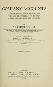 Cover of: Company accounts | Arthur Coles