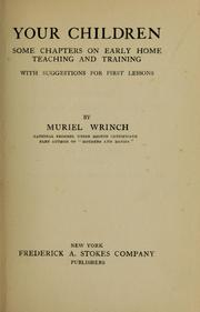 Cover of: Your children | Muriel Wrinch
