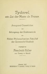 Cover of: Tydorel, ein Lai der Marie de France | Friedrich Hiller