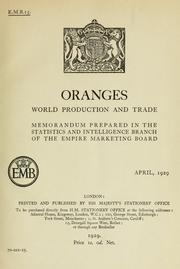Cover of: Oranges | Great Britain. Empire Marketing Board