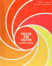 Cover of: Focus on faith by Ronald J. Wilkins