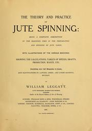 Cover of: The theory and practice of jute spinning | William Leggatt