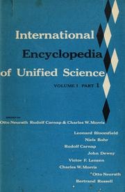 Cover of: International encyclopedia of unified science by Otto Neurath