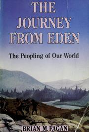 Cover of: The journey from Eden | Brian M. Fagan