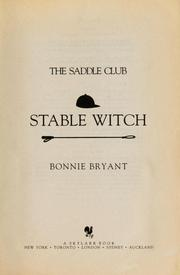 The Saddle Club; Stable Witch