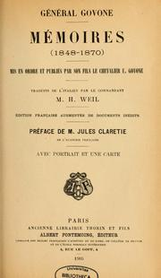 Cover of: Mémoires, 1848-1870 by Govone, Giuseppe conte