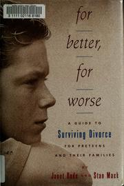 Cover of: For better, for worse | Janet Bode