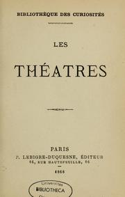 Cover of: Les Théâtres by