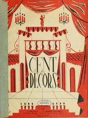 Cover of: Cent décors | Michel Sonkin