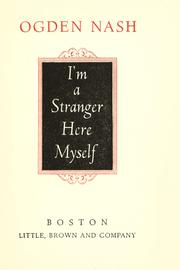 Cover of: I'm a stranger here myself