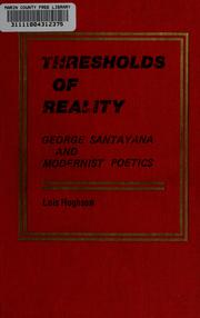 Cover of: Thresholds of reality | Lois Hughson