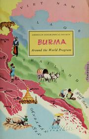 Cover of: Burma. | Richard Dunlop