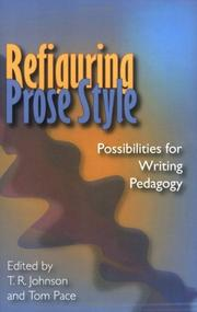 Cover of: Refiguring Prose Style