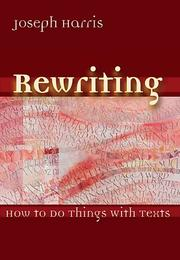 Cover of: Rewriting by Joseph Harris