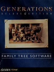 Cover of: Generations family tree software | Sierra On-Line, Inc