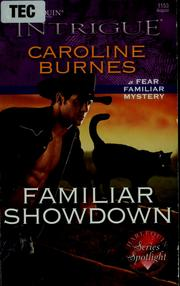 Cover of: Familiar showdown | Caroline Burnes
