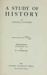 Cover of: A study of history by Arnold Joseph Toynbee