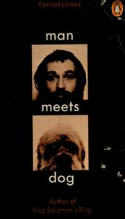 Cover of: Man meets dog | Konrad Lorenz